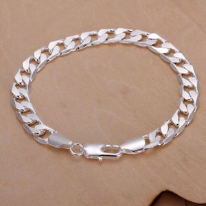 Other - Mens 925 Sterling Silver 10mm Figaro Bracelet
